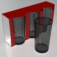 Glass set in display box packaging