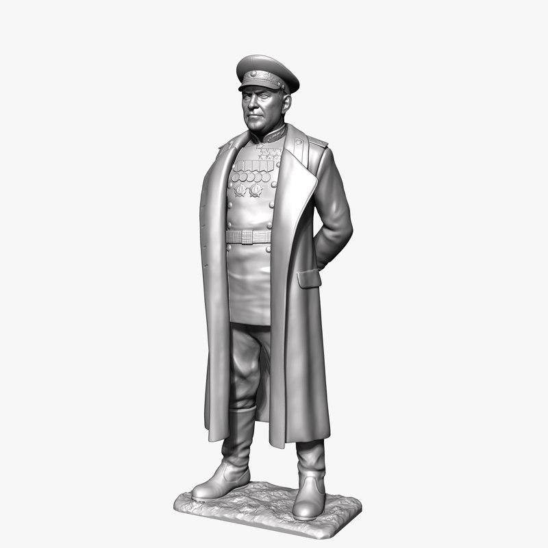 georgy zhukov soviet marshal model
