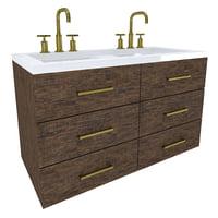 3D vanity cabinet model