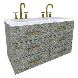 floating vanity cabinet 3D model