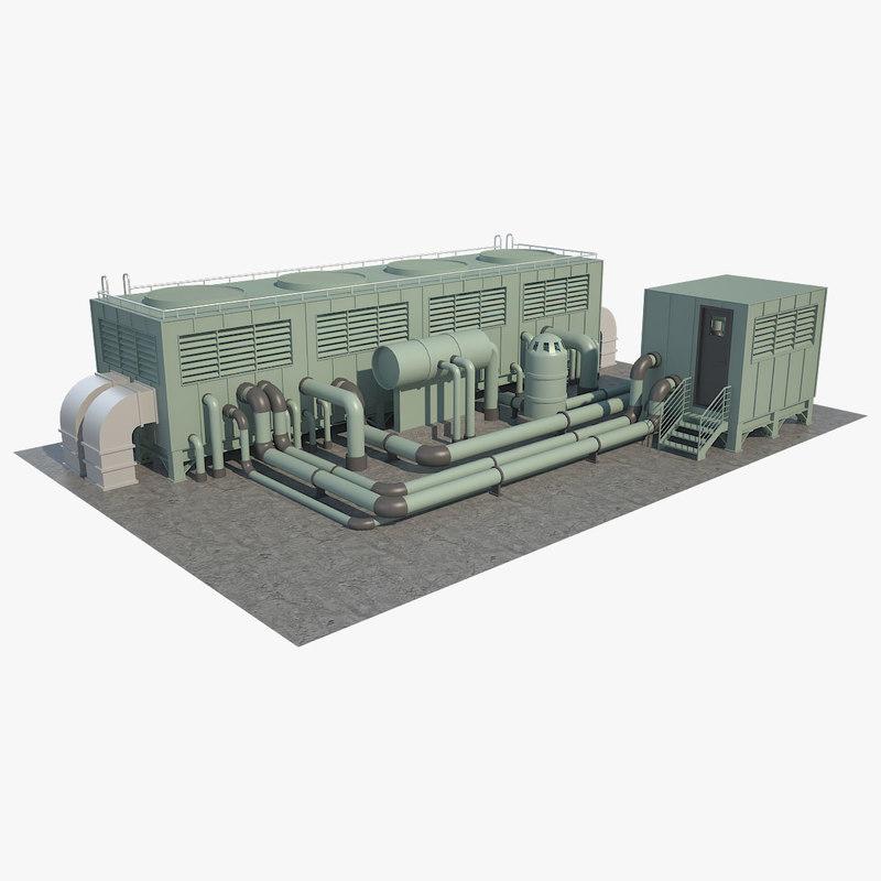 3D roof cooling unit