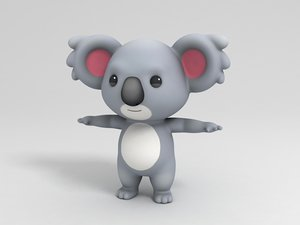 koala character cartoon 3D model