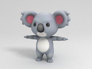 koala character cartoon 3D model