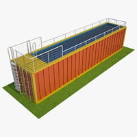 container swimming pool 3D