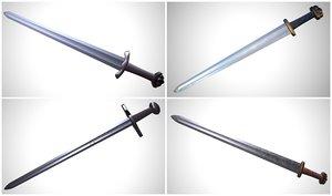 viking swords pack 2 3D model