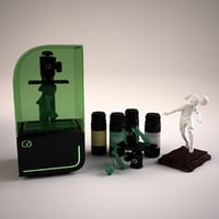 resin printer soccer sculpture 3D model