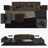 3D minotti pollock composition model