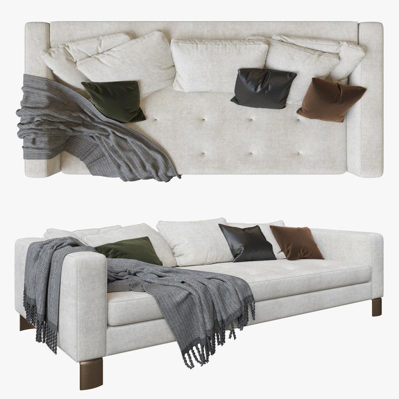 minotti pollock white sofa model