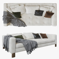 minotti pollock white sofa model