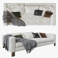 minotti Pollock White sofa