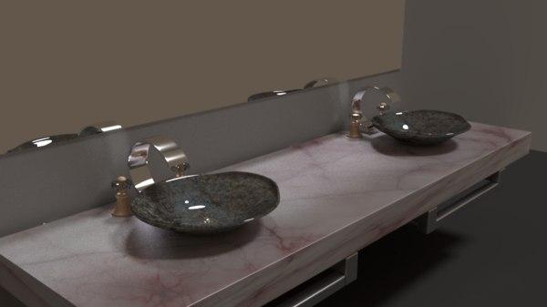 double sink 3D model