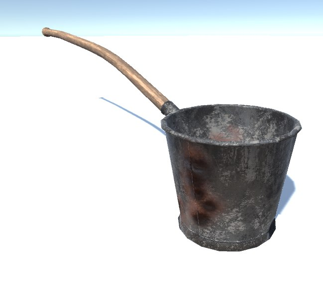 3D model ancient bucket handle