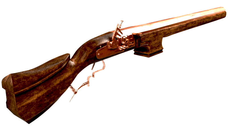 3D serf rifle flintlock anglo-dutch