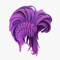 3D stylized hairstyle hair model