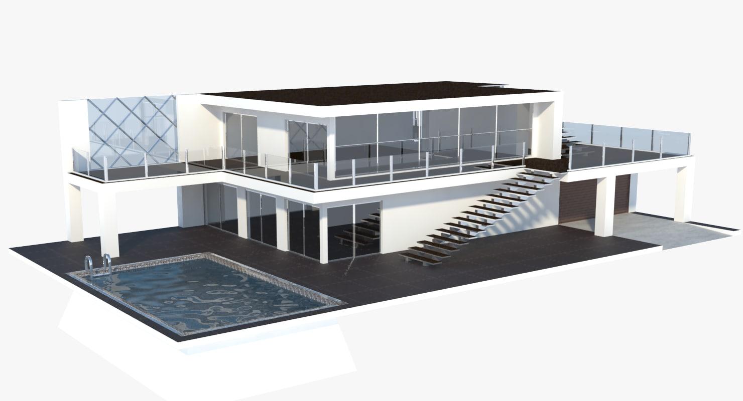 Nice 3D Modern House Model