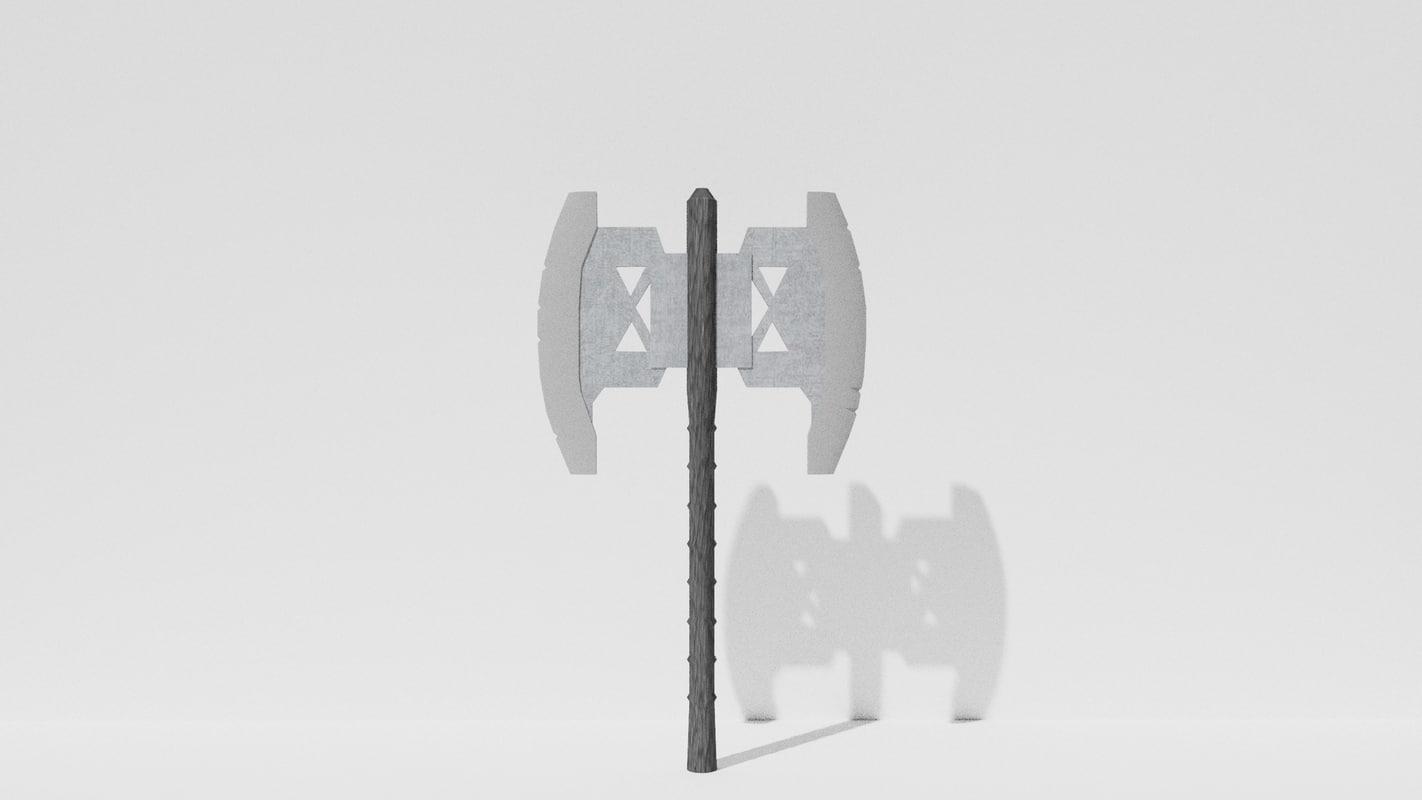 axe 3D
