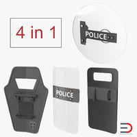 Ballistic Shields 3D Models Collection