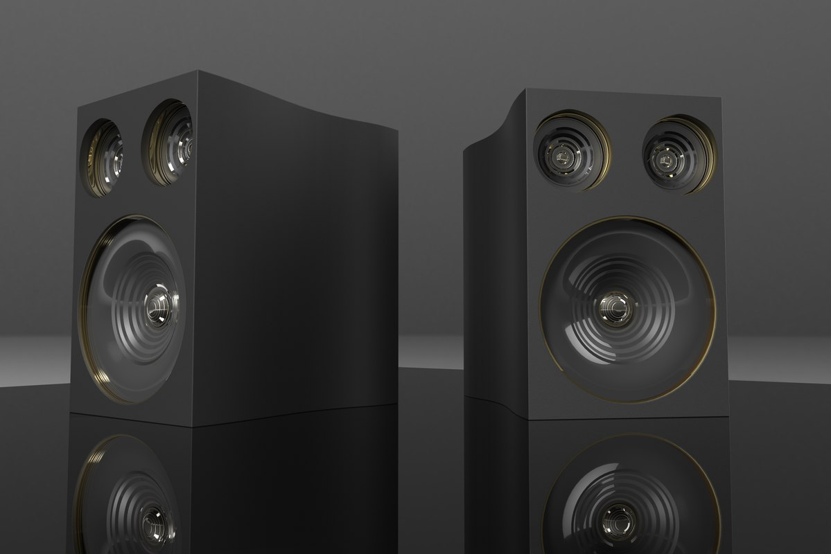 speakers music studio 3D model