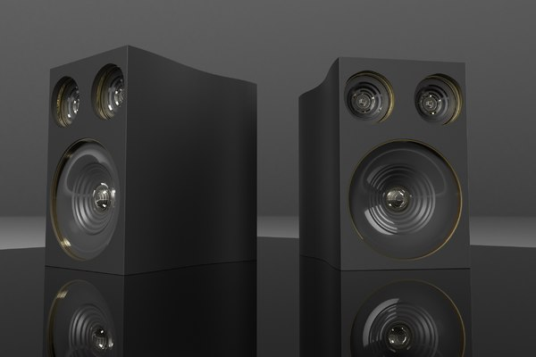 speakers music studio 3D model