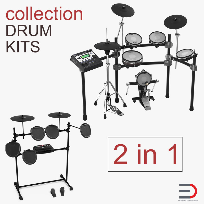 electric drum kits 3D model