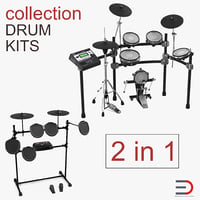Electric Drum Kits 3D Models Collection