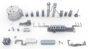 components oil plant model