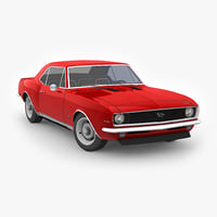 chevrolet camaro ss 1969 3D model