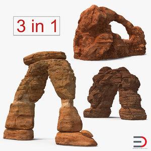 sandstone arches 3D model