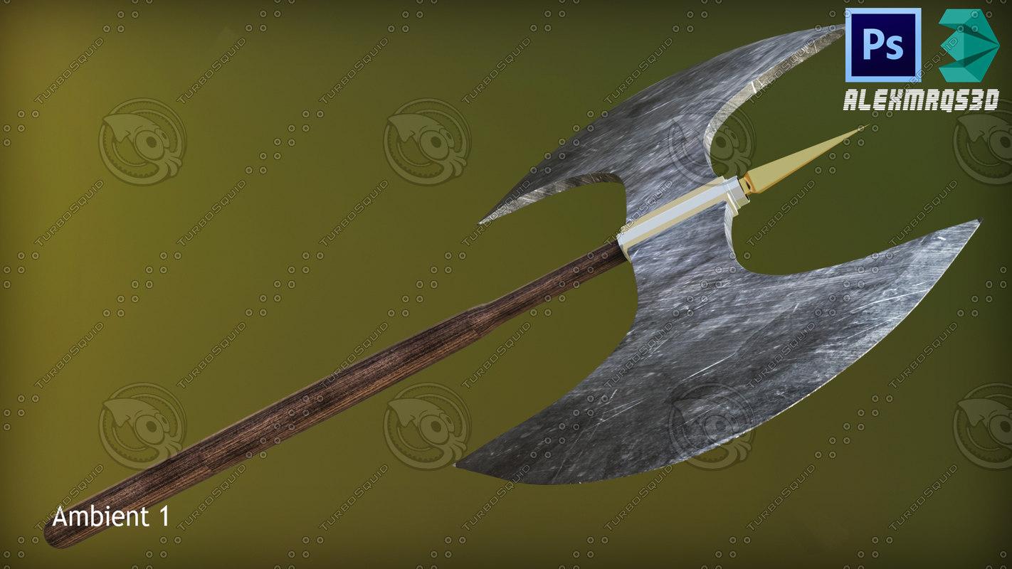 3D head axe model
