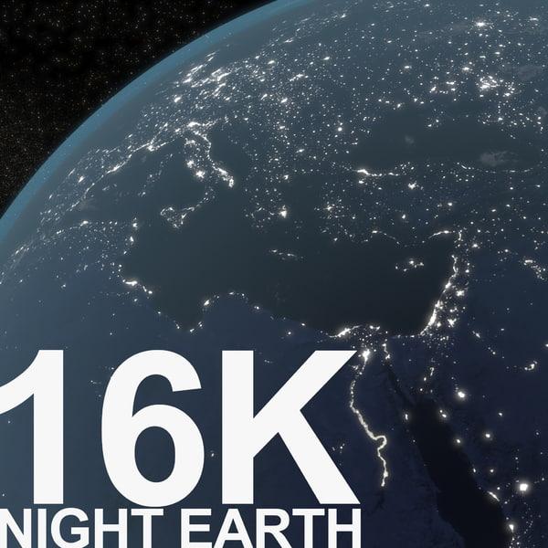earth night 3D