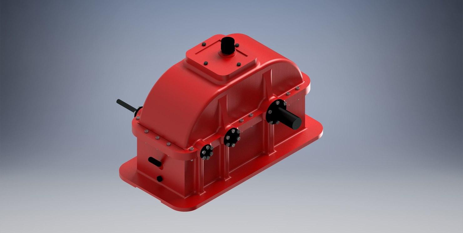motor reducer 3D model