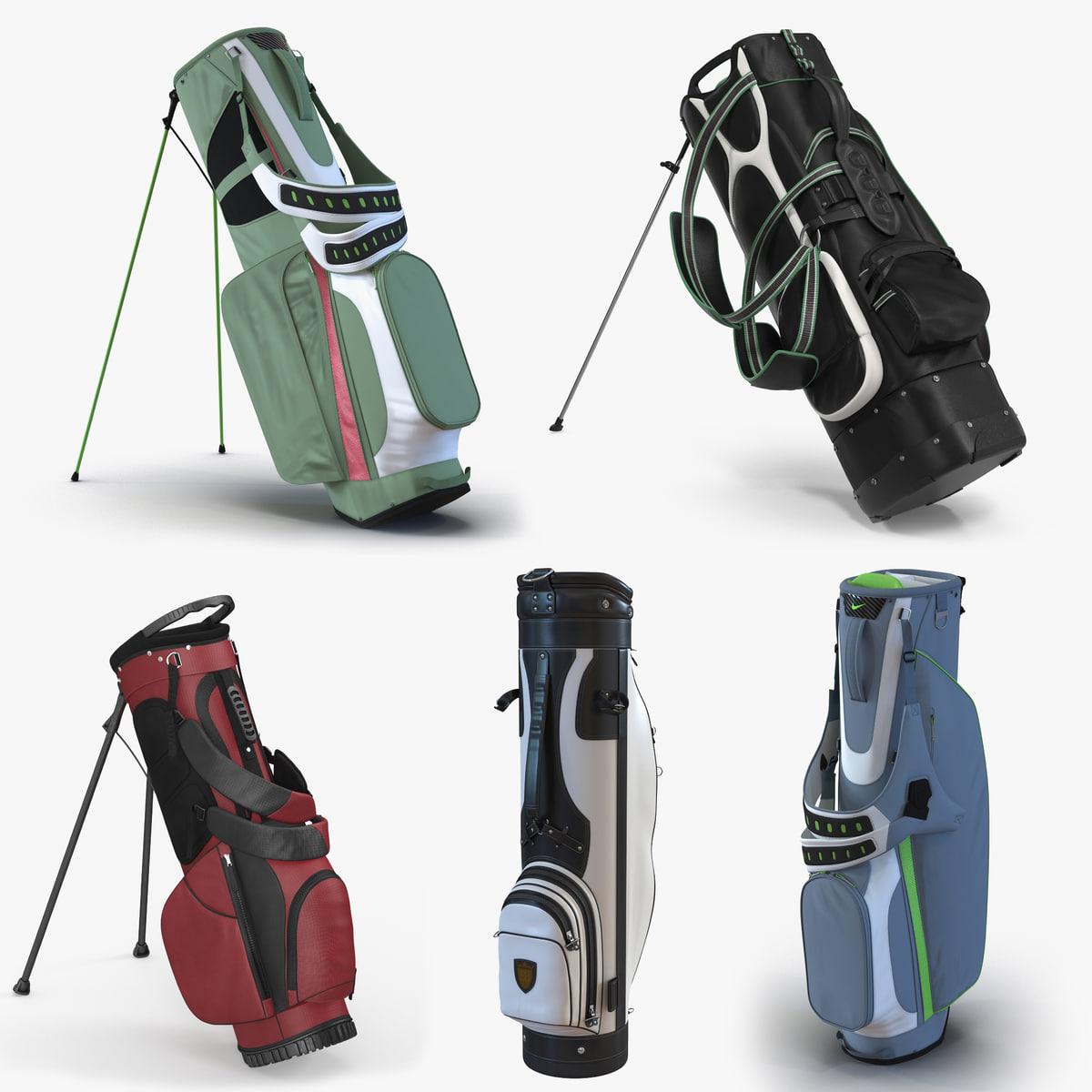 golf bags 5 3D model