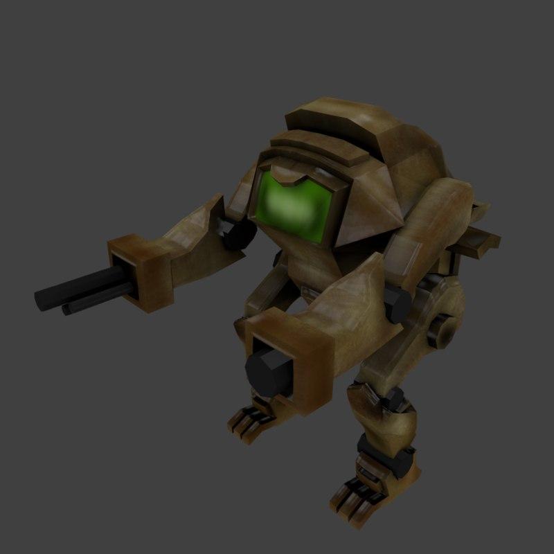 3D mecha robot