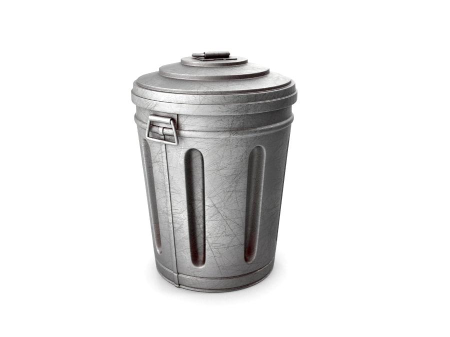 garbage modeled 3D model