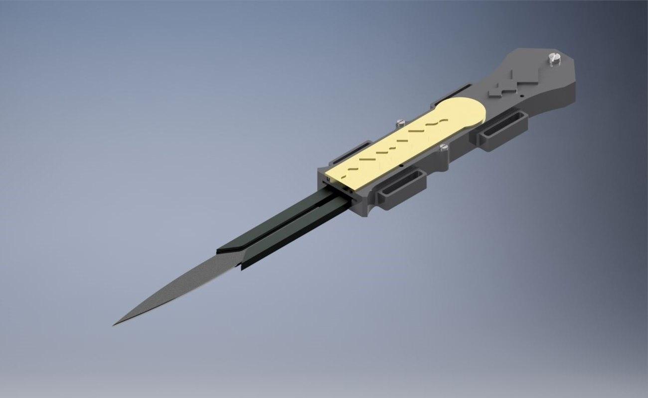 hidden blade working 3D model