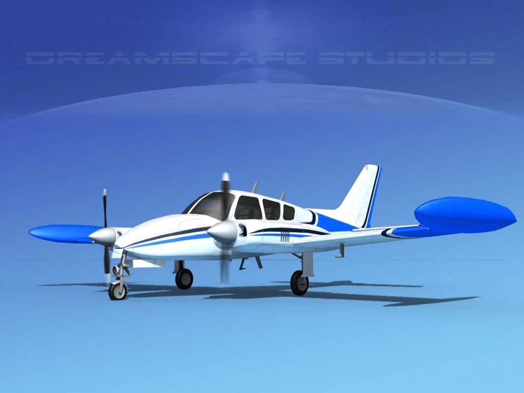 3D cockpit cessna 320