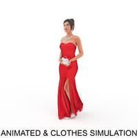3D animation clothes point model