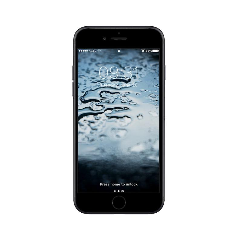 iphone 7 black 3D