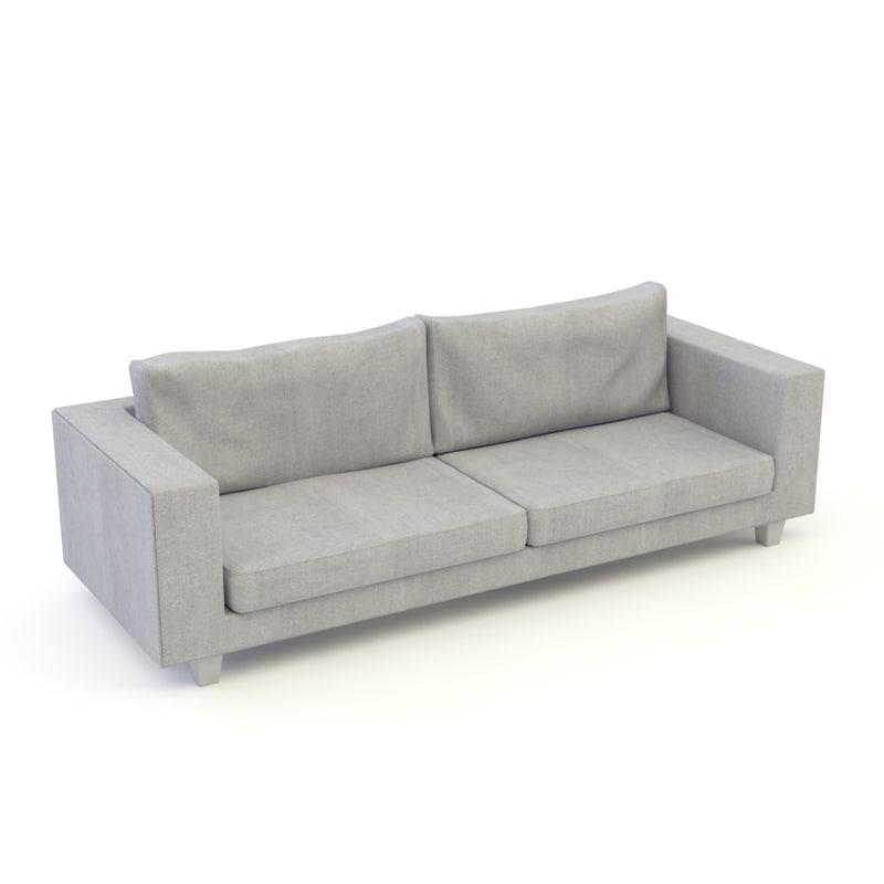 velvet modern sofa 3D