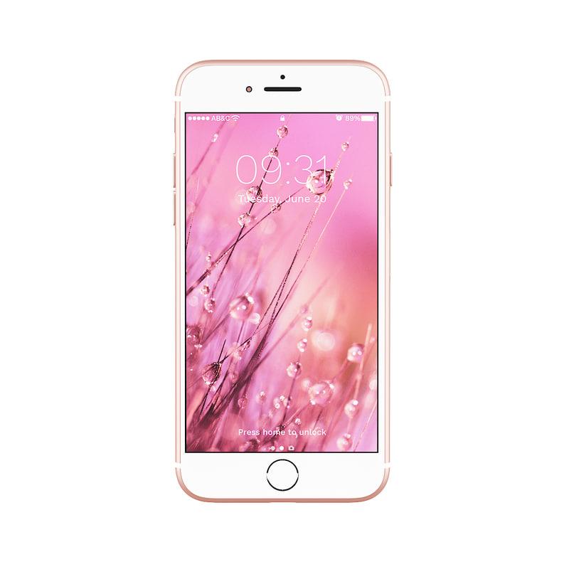 iphone 7 pink 3D model