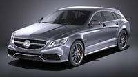 Mercedes-Benz CLS63 AMG Shooting Brake 2015 VRAY