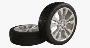 wheel mercedes benz 3D
