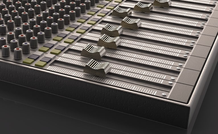 vintage analog mixer 3D model