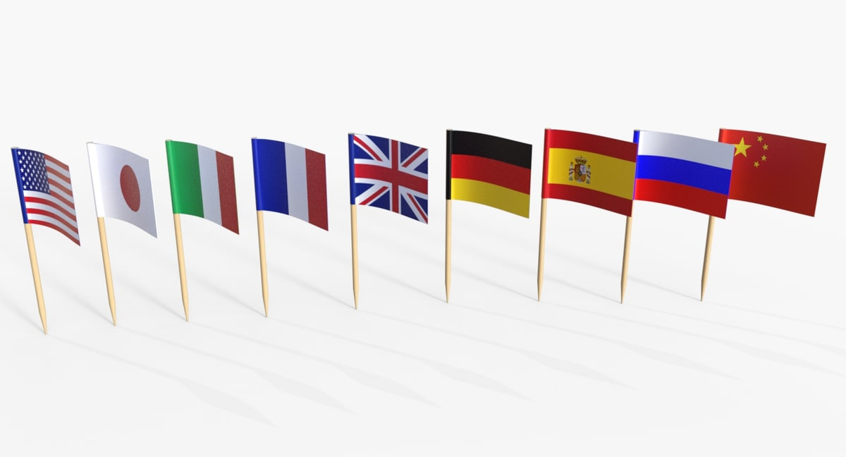 3D toothpick flag