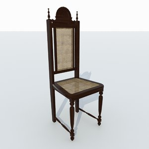 3D colonial style chair