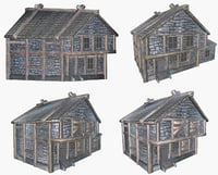 Medieval house Four pack