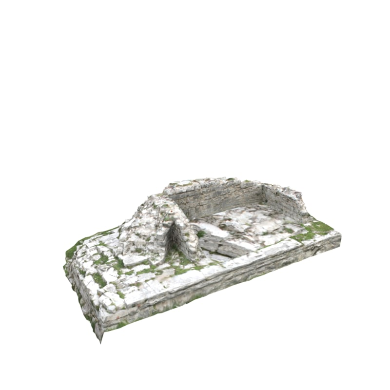 3D model ruined wall 13