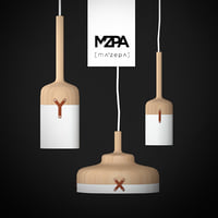 pendant lamps leather 3D model