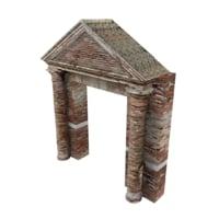 brick entrance 3D