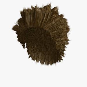 3D hairstyle 3 hair